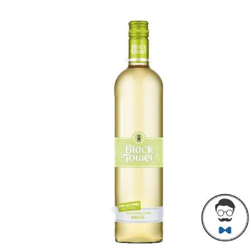 Black Tower Deliciously Light Low Alcohol White  Wine (0.5% ABV)